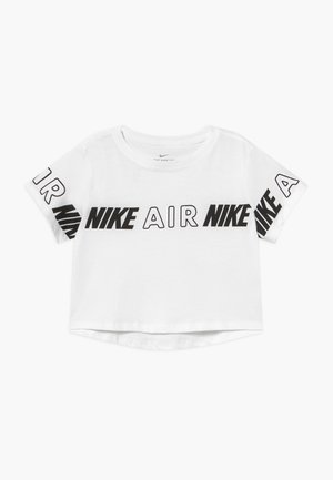 TEE CROP AIR TAPING - T-shirt med print - white