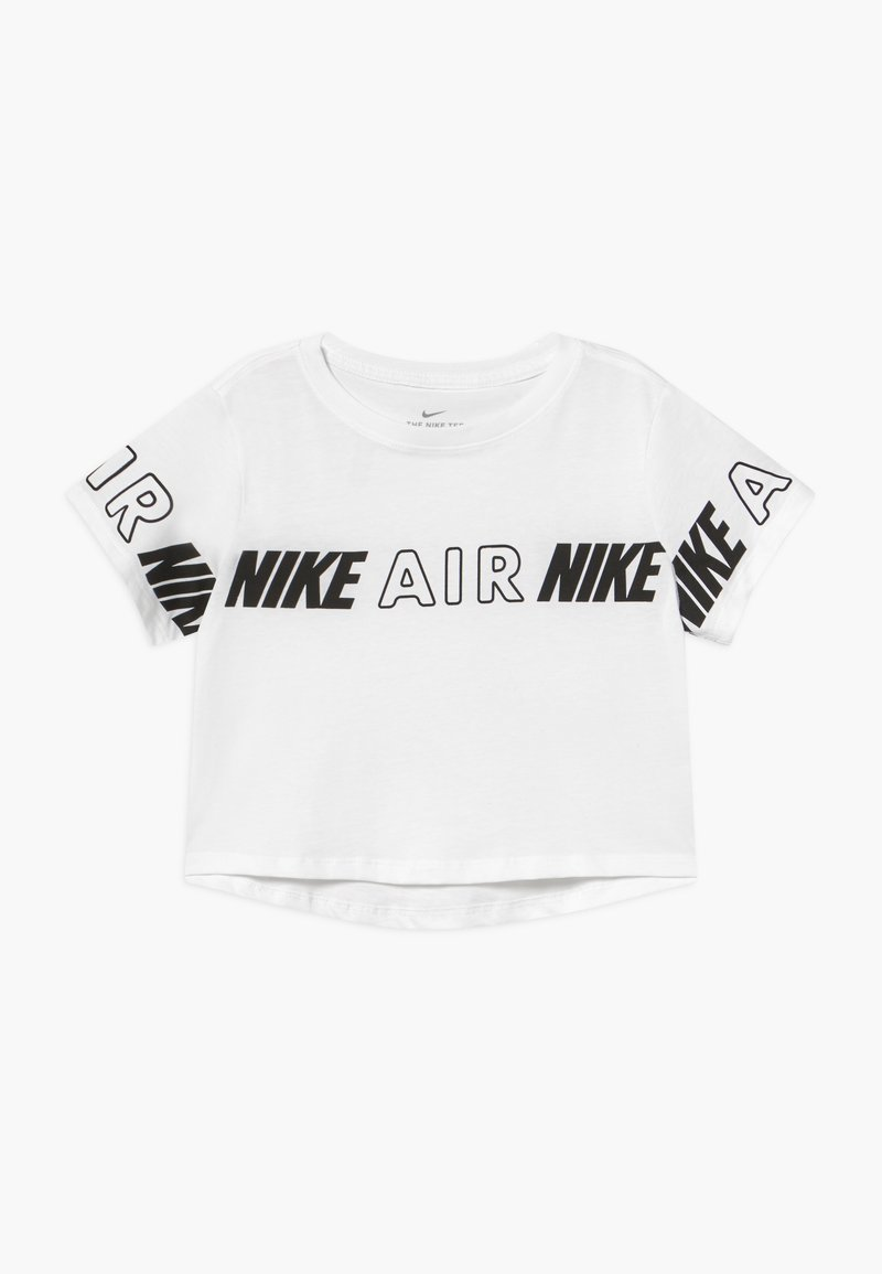 Nike Sportswear - TEE CROP AIR TAPING - T-shirt imprimé - white