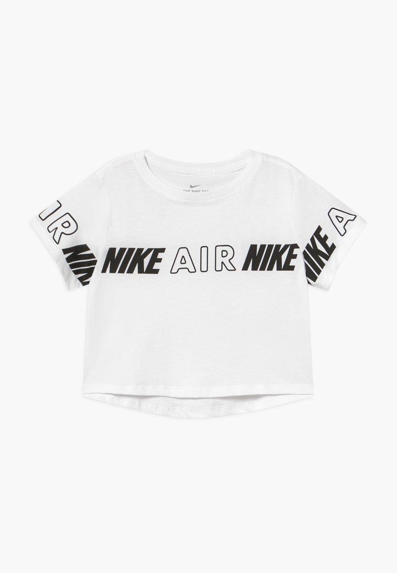 Nike Sportswear - TEE CROP AIR TAPING - Print T-shirt - white