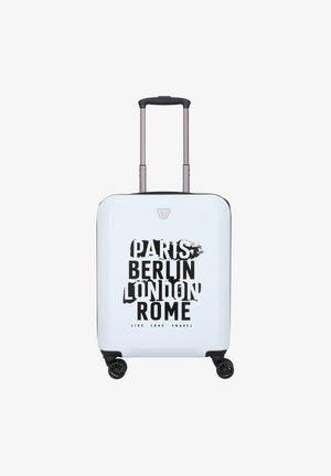 KABINENTROLLEY - Wheeled suitcase - bianco
