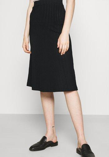 VICE - Áčková sukně - black
