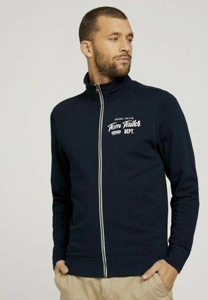 MIT PRINT - Zip-up hoodie - dark blue
