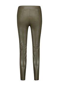 Gerry Weber - Pantalon en cuir - khaki - 4