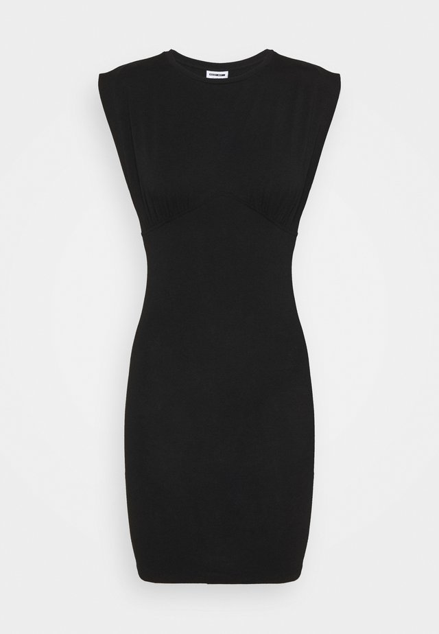 NMGENNIE DETAIL DRESS - Robe en jersey - black