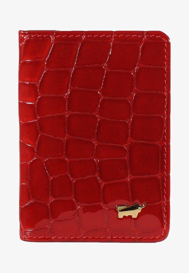 VERONA - Business card holder - red