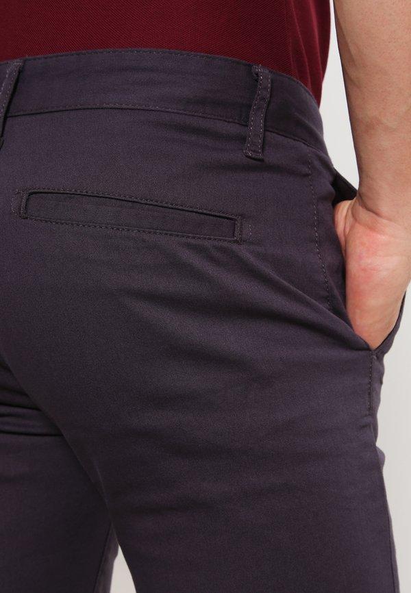 Pier One Chinosy - dark grey/ciemnoszary Odzież Męska IWLT