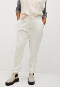 Violeta by Mango - TERRY - Tracksuit bottoms - ecru - 0