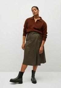 Violeta by Mango - OLIVE - Wrap skirt - olive - 1