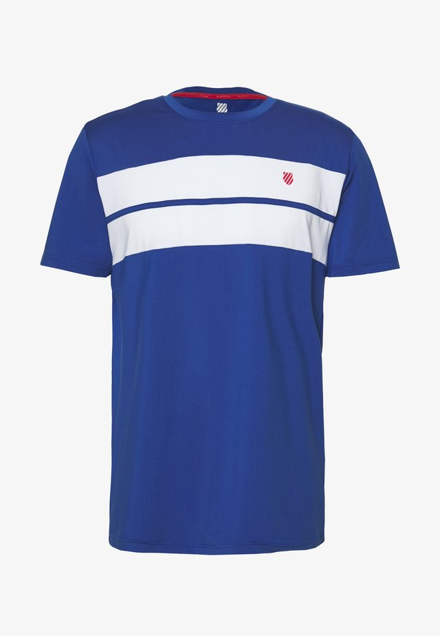 HYPERCOURT CREW TEE - Camiseta estampada - dark blue/white