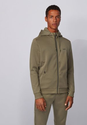 SAGGY TR - veste en sweat zippée - dark green