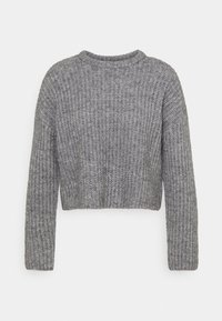 Even&Odd - CROPPED WOOL BLEND JUMPER - Jumper - mottled grey - 5