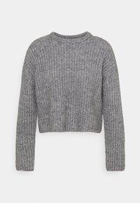 CROPPED WOOL BLEND JUMPER - Strikkegenser - mottled grey