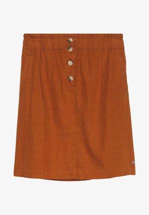SKIRT WITH BUTTON DETAIL - A-line skirt - mango brown