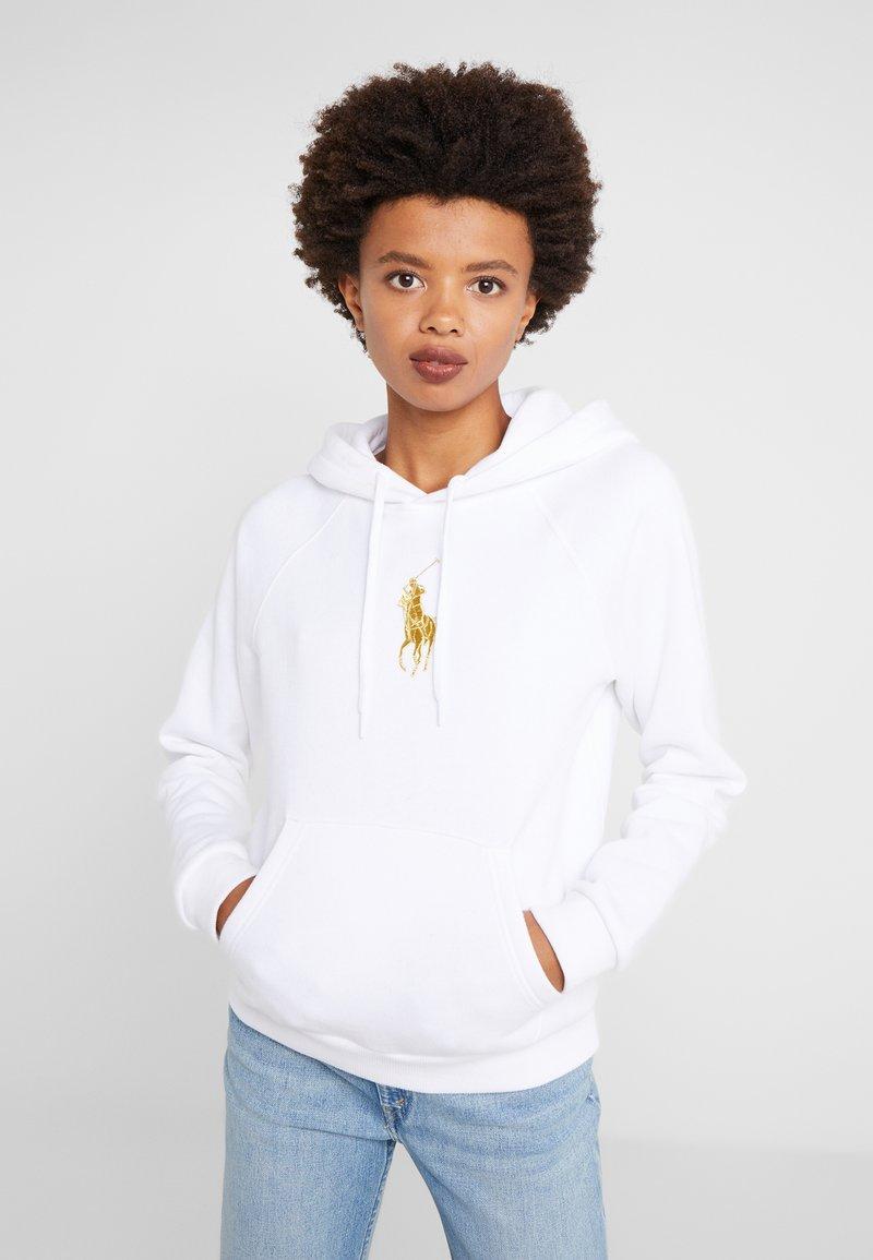 Polo Ralph Lauren - SEASONAL - Mikina skapucí - white