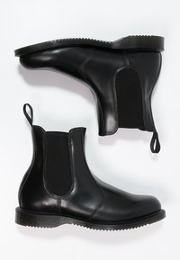 Dr. Martens - FLORA - Classic ankle boots - black polished smooth - 2