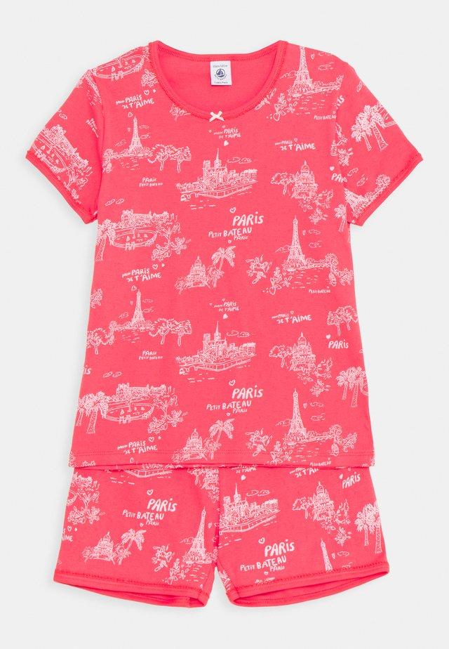 PARIS PRINT SHORT - Pyjama - groseiller