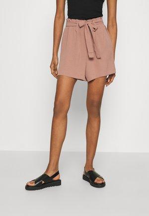 ONLLAVENDER PAPERBAG - Shorts - burlwood