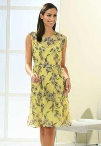 Alba Moda - Day dress - gelb,flieder - 3
