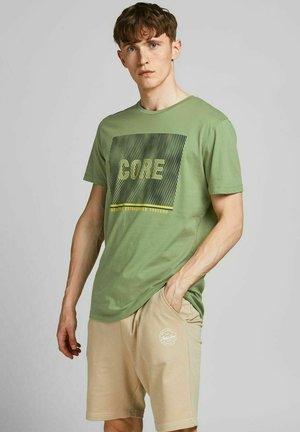 Print T-shirt - oil green