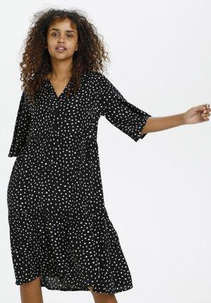 BPKALA - Shirt dress - black / chalk dot print