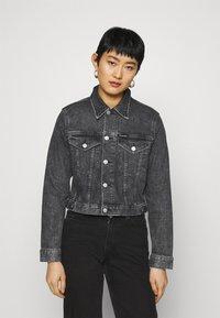 Calvin Klein Jeans - CROPPED JACKET - Denim jacket - denim grey - 0