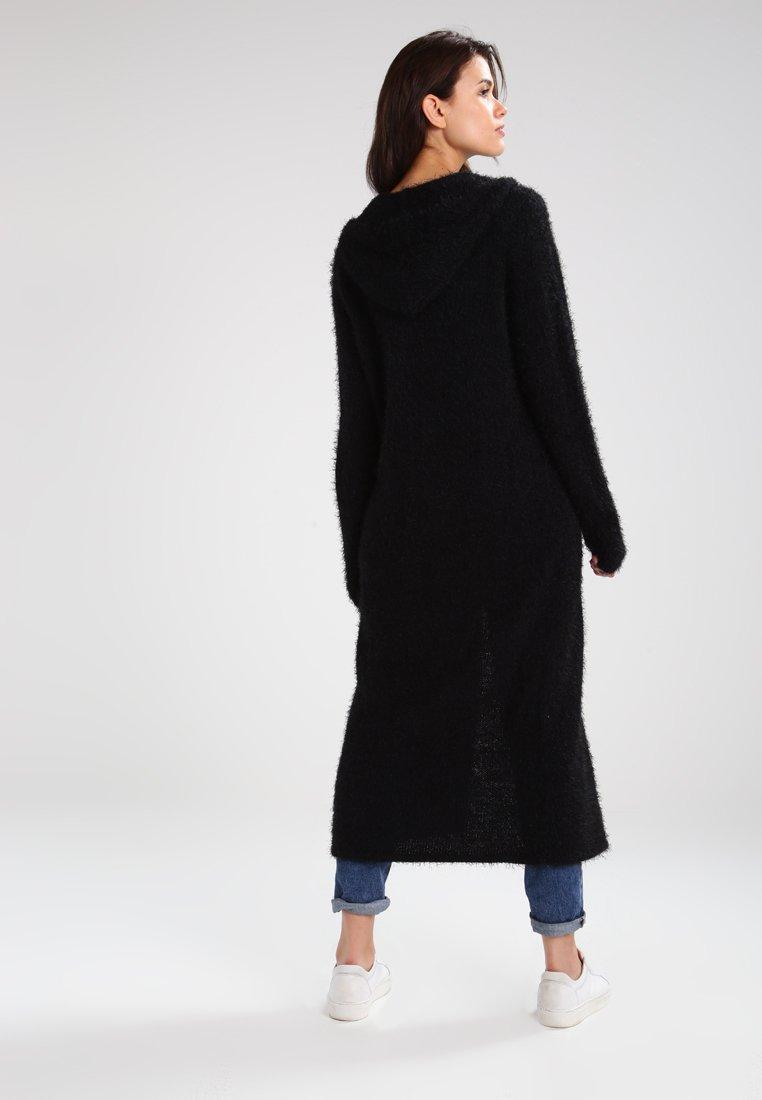 Sammlungen Damen Bekleidung HSD56659fjiodI Urban Classics LADIES HOODED CARDIGAN Strickjacke black