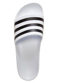 adidas Performance - AQUA ADILETTE - Pool slides - white/black - 1