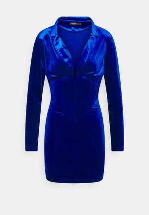 CORSET DETAIL BLAZER DRESS - Robe fourreau - blue
