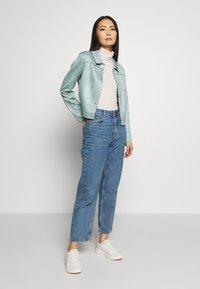 comma - JACKET - Faux leather jacket - smokey blue - 1