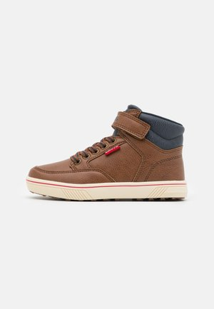HOUSTON MID - Sneakers hoog - cognac/navy