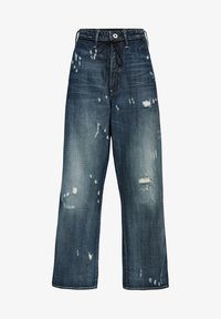 G-Star - LINTELL HIGH DAD - Flared Jeans - antic faded tarnish blue destroyed - 0