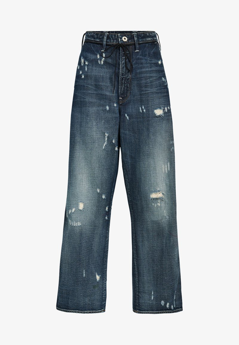 G-Star - LINTELL HIGH DAD - Flared Jeans - antic faded tarnish blue destroyed