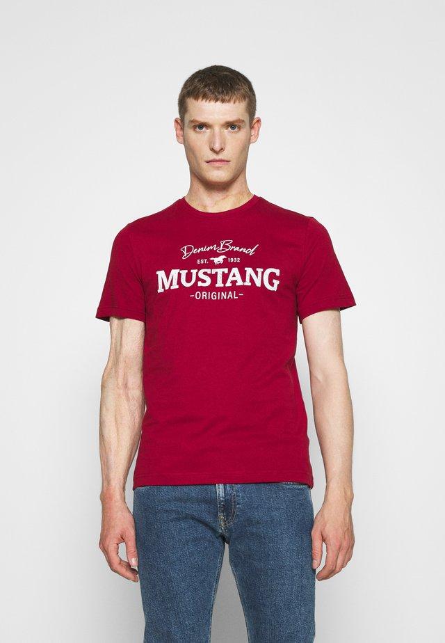 ALEX LOGO - Print T-shirt - red