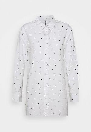 PCELOISE LONG SHIRT - Košile - bright white