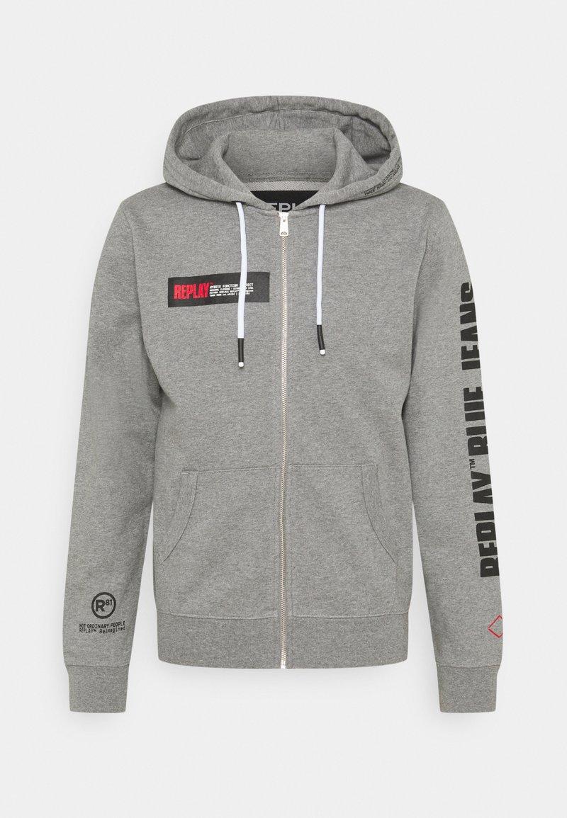 Replay - Zip-up hoodie - medium grey melange
