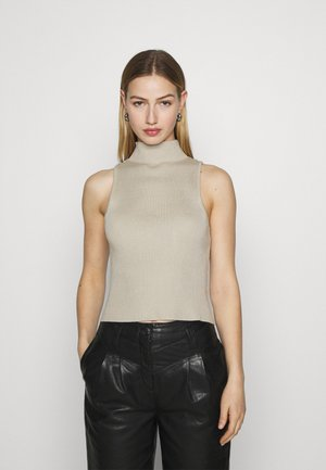 HIGH NECK TOP  - Jumper - cream