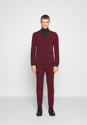 DOUBLE BREASTED SUIT - SLIM FIT - Kostym - bordeaux