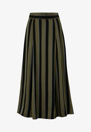 Áčková sukně - dark olive