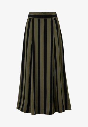 A-line skirt - dark olive