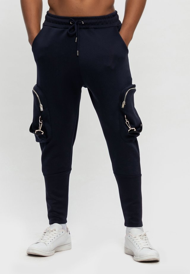 Pantalon cargo - dunkelblau