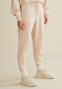 OYSHO_SPORT - Pantalon de survêtement - mottled beige - 3