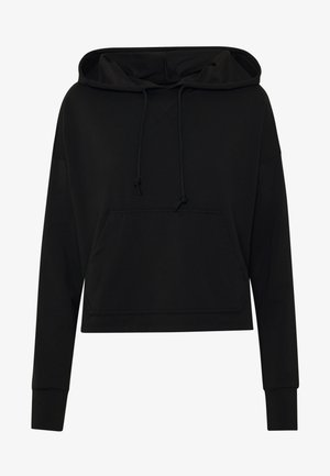 YOGA HOODIE - Langærmede T-shirts - black/dark smoke grey