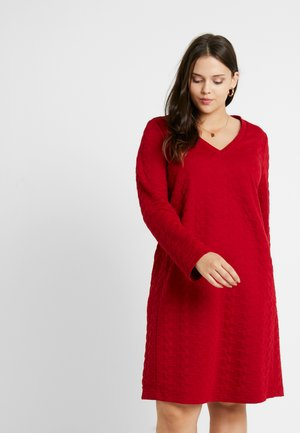 OMEGA - Jersey dress - bordeaux
