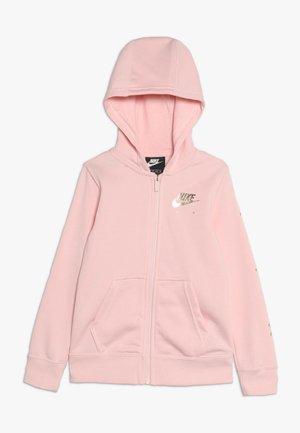 AIR - Mikina na zip - echo pink/metallic gold