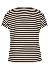 Rabe 1920 - MIT GERINGELTEM ALLOVER-MUSTER UND BINDEBäNDERN - Print T-shirt - schwarz - 1