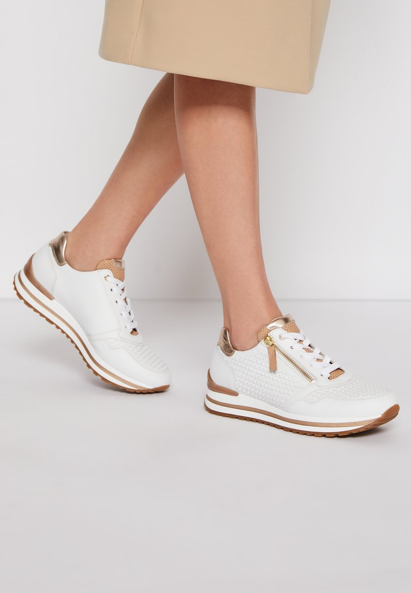 Gabor Comfort - Sneakers laag - weiß/champagne/natur
