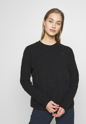 WOMENS GLACIER CREW - Fleece jumper - black