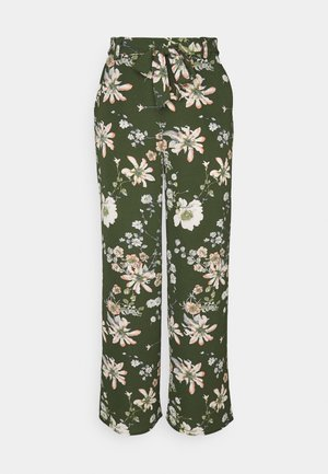 ONLNOVA PALAZZO PANT - Trousers - ponderosa pine/green