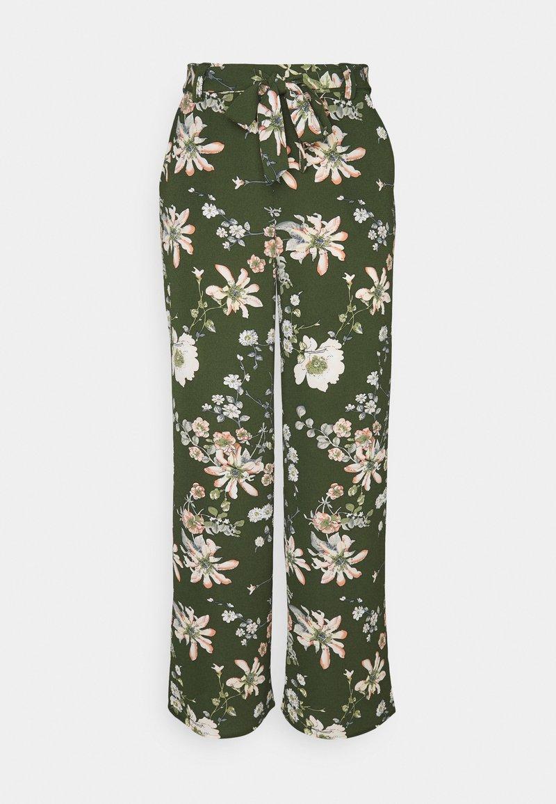 ONLY - ONLNOVA PALAZZO PANT - Trousers - ponderosa pine/green