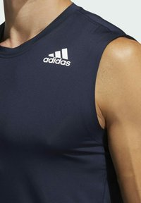 adidas Performance - TECHFIT SLEEVELESS FITTED TANK TOP - Top - blue - 4